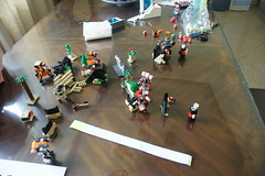 The game begins! (milt69466) Tags: mecha mech moc microscale mechaton mfz mf0 mobileframezero