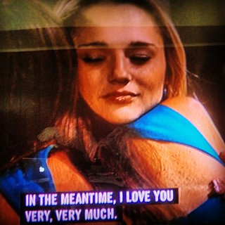Hunter-Haley King saying goodbye to the Genera...