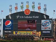 Scoreboard (Brule Laker) Tags: baseball atlantabraves mlb uscellularfield americanleague chicagowhitesox nationalleague