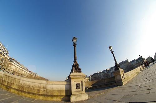 Pont Neuf (Paris) - fisheye
