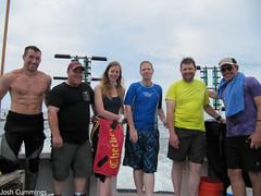 Instructor Nate Garrett and his AOW class (Josh.Cummings) Tags: scuba diving shipwreck drysuit joshcummings joshuacummings nategarrett joshcummingsunderwater newenglanduwphotographywater jrcummings