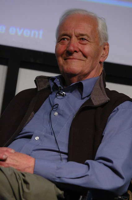 Tony Benn on the Book Festival stage