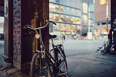 Alexanderplatz #V (Alexander Rentsch) Tags: street city summer urban berlin colors bike bicycle vintage germany lights colours dof bokeh sommer retro depthoffield alexanderplatz mitte fahrrad lichter strase canonef35mmf14lusm canoneos5dmarkiii