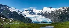 Portage Glacier Pano (Ed Boudreau) Tags: snow mountains ice alaska bluesky glacier portageglacier whittier glacierwater alaskamountains
