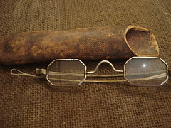 "SILVER CUT-CORNER SPECTACLES IN CASE, E. 19TH CENTURY • <a style=""font-size:0.8em;"" href=""http://www.flickr.com/photos/51721355@N02/9629380821/"" target=""_blank"">View on Flickr</a>"
