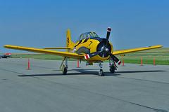 T-28B Trojan USN BuNo 138117 (skyhawkpc) Tags: nikon colorado aircraft aviation navy co trojan naval usnavy usn watkins warbird allrightsreserved ftg northamerican t28b 2013 frontrangeairport pa117 kftg vt27 13