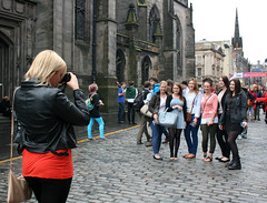 Capturing Memories (tezzer57) Tags: uk summer scotland edinburgh fringe royalmile sell promote edinburghfringe edinburghfringe2013