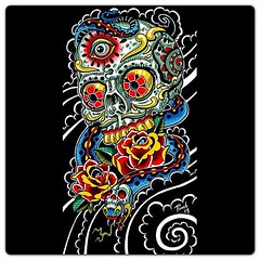 Playing with some color schemes #diadelosmuertos #sugarskull