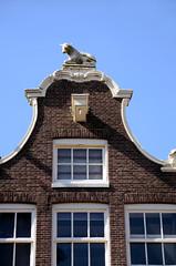 Bloemgracht 8, klokgevel koe, Amsterdam 2013 (wally nelemans) Tags: holland amsterdam cow nederland thenetherlands koe bloemgracht klokgevel clockgable