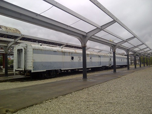 Old Streamlined Baggage Cars, St. Louis Union Station