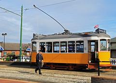 Pole Walking For Lisbon Tram No 730 (David Chennell - DavidC.Photography) Tags: birkenhead woodside wirral merseyside mtps woodsideferry lisbontram birkenheadtram