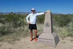 At the Continental Divide Trail southern terminus