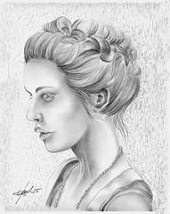 Eva (Zz manipulation) Tags: portrait people art donna ritratto disegno matite draving ambrosioni zzmanipulation