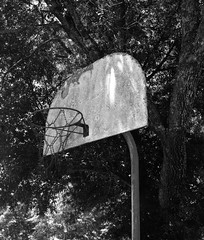 Old Basketball Goal (@BrianC85) Tags: white black basketball hoop goal iphone basketballgoal