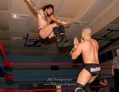 Jaxson James, Ricky Martinez (bkrieger02) Tags: wrestling squaredcircle prowrestling professionalwrestling ecwa springbreakiv