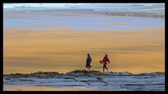 Barefoot on the beach (Frank Fullard) Tags: street portrait cold beach stone strand walking happy boot shoe golden sand clare candid atlantic walker barefoot limestone burren carefree galwaybay fanore fullard frankfullard