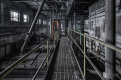 Catwalk Coochie Coo (billmclaugh) Tags: plant industry photoshop canon dark midwest industrial shadows urbanexploration generators tamron hdr highdynamicrange ue lightroom urbex manufacturing boilers 14mm photomatix 2875mm rokinon lightplant viveza condensors municipalpowerplant 5dmiii municipalelectricplant