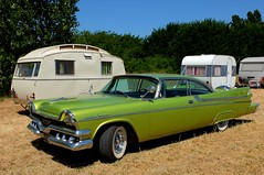 1957 DODGE Custom Royal Lancer (xavnco2) Tags: show camping france green classic cars car automobile royal meeting american 1957 dodge trailer autos custom verte caravane maineetloire 2015 paysdeloire rassemblement maz carouleamaze