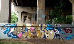 siek-hanover-bridge2015 (SIEKONE.ID) Tags: art wall graffiti character baltimore crew bubble letter graff piece simple kts gak dst 2015 siek flyid pfe rusto baltimoregraffiti siekone siekflyid