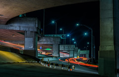 bay bridge hov on-ramp (pbo31) Tags: sanfrancisco california nikon d810 color night dark black october 2016 fall boury pbo31 urban city lightstream motion traffic roadway baybridge 80 onramp exit bridge rinconhill hov lowerdeck infinity
