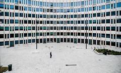 (Svein Nordrum) Tags: oslo man perspective facade windows alone curve curved distagon 21mm wide arc