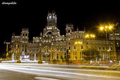 Bright lights (elenagvilela) Tags: bright lights city night ciudad arquitectura edificio noche silueta madrid cibeles