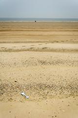 a day at the seaside (stevefge) Tags: dunkirk france beach sand sea coast spade pebbes horizon people landscape empty reflectyourworld