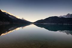 Halcyon (gwendolyn.allsop) Tags: reflection waterfowl lake mountains landscape alberta canada d5200