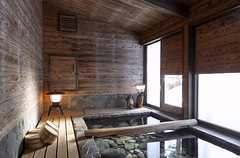 Private bath at Lodge tabi-tabi Hakuba