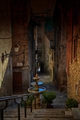 La fuente (JC Arranz) Tags: turismo españa tarragona ciudad arquitectura escaleras oscuridad fuente piedras nikon d3200 nocturno crepúsculo casco histórico vimbodí