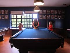Playing Pool In Cloister (Joe Shlabotnik) Tags: 2016 princeton cloisterinn billiards pool princetonuniversity october2016 sue violet everett proudparents 60225mm faved
