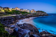 Tamarama at night (silardtoth) Tags: water australia bondi aspect 23 background beach beachscape beautiful blue bronte clouds coast coogee exposure houses landscape long nature new south wales nsw ocean red rocks sand sea seascape summer sunset tamarama travel