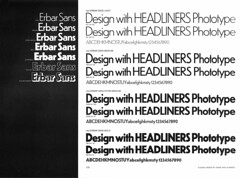 neo-Erbar Sans (Florian Hardwig) Tags: headlinersinternational phototype typespecimen specimen erbarsans neoerbarsans