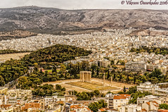 Temple of Olympian Zeus from Acropolis, Athens, Greece (vdwarkadas) Tags: templeofolympianzeus olympieion columnsoftheolympianzeus athens greektemple greektemples architecture greekarchitecture sony sonynex5t