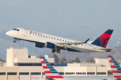 Delta Connection (Compass Airlines) Embraer ERJ-175 N619CZ (jbp274) Tags: lax klax airport airplanes deltaconnection compass compassairlines cp embraer e175 erj175