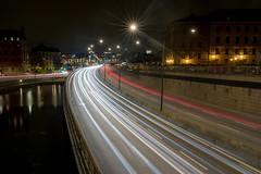 Stockholm (mikper) Tags: lights night riddarholmsbron sverige gamlastan bridge riddarholmen ljus water trafik cars stockholm traffic longexposure bilar centralbron schweden sweden stockholmsln se