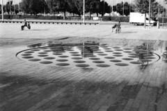 circles, dots, dashes and lines (billznn) Tags: ilfordpanfplus50 zuiko50mm18 zurich fontana blackandwhite bn bw biancoenero