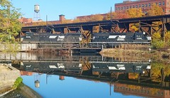 HELL'S HALF ACRE (BLACK VOMIT) Tags: norfolk southern ns freight train engine engines reflefction kanawha canal mirror image rva richmond virginia va