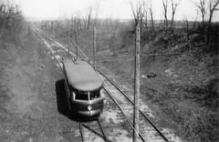 FJ&G Schenectady-Bound Bullet Car 1930s (jsmatlak) Tags: brill bullet fonda johnstown gloversville schenectady new york interurban tram trolley streetcar electric railway