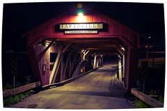 Taftsville Bridge (DjD-567) Tags: taftsville vt coveredbridge night light illuminated