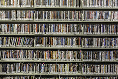 DVDs (Mabry Campbell) Tags: 2016 cityhall dvd dickinson library mabrycampbell november texas usa zca zieglercooper building commercial commercialphotography fineart fineartphotography government image movies pattern photo photograph photographer photography rows shelves fav10 fav20 fav30 fav40 fav50 fav60