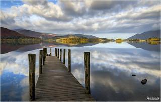Derwentwater reflections, England (explored)