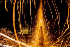 Diwali Firecrackers - 2016 (briejeshpatel) Tags: briejeshpatel canon canon7d l lens brijesh patel india karnataka bangalore bengaluru dussera firecrackers festival celebrations mysorepalace navaratridolls lights diwali2016 8mm fisheye samyang8mm rocket slowshutter