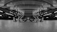 Underground Station berseequartier [Explored 2016-11-11] (T.Seifer) Tags: subway station fisheye walimex hamburg hafencity underground nikon ubahn d700 fx architektur architecture blackandwhite bw blackwhite deutschland germany monochrome photography schwarzweis whiteandblack whiteblack weisschwarz white weitwinkel