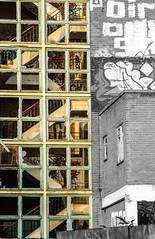 no windows just stairs contrasts (PDKImages) Tags: kelham sheffield sheffieldstreetart sheffieldart abandoned broken urban lost contrasts skull yorkshire desolate windows