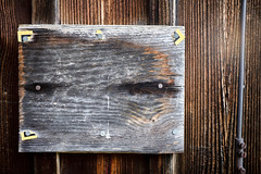 E.T. (.martinjakab) Tags: abstract texture portrait extraterrestrian wood board bretter holz photo x100t fujifilm prohibition sign verbotszeichen weathered verwittert simple border frame