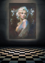 WW Classic Times GLASS Picture (ARTbyAngieBraun) Tags: theo danella marilyn monroe diva glass picture illuminated wonderful amazing portrait painting mm woman blond icon celebraties masterpiece gift xmass geschenk glasbild beleuchtet