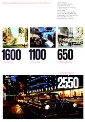 Mercedes-Benz Taxicabs around the World (aldenjewell) Tags: mercedes benz taxis taxicabs lisbon vienna hongkong copenhagen beirut buenos aires teheran 1967 brochure