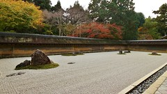 The Rock Garden/  The UNESCO World Heritage Site Ryoan-ji temple (maco-nonchR) Tags: kyoto autumn kioto ryoanji temple japan japanese traditional zen myosinji unescoworldheritagesite  karesansui drylandscape   buddhism  rock garden