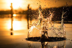 Impact (--Conrad-N busy in december--) Tags: kurort bad saarow sony scharmützelsee see lake splash impact sunset water wave drops reflection bokeh fe55 hq 4k